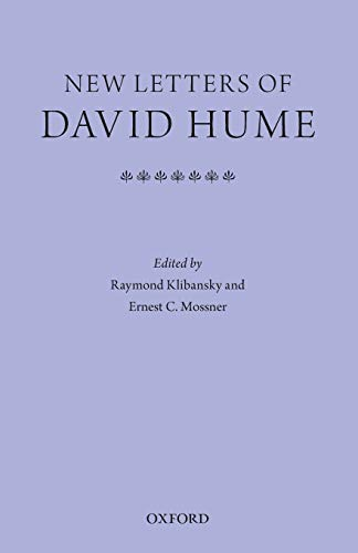 New Letters of David Hume.: KLIBANSKY, R. M.,