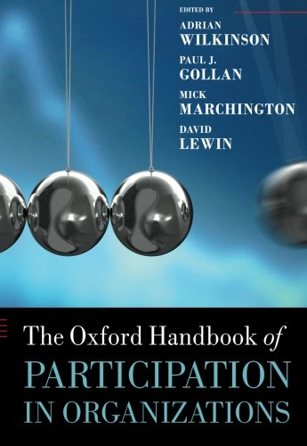 9780199693733: The Oxford Handbook of Participation in Organizations