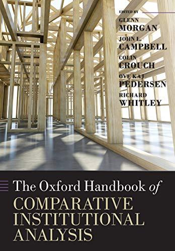 9780199693771: The Oxford Handbook of Comparative Institutional Analysis (Oxford Handbooks)