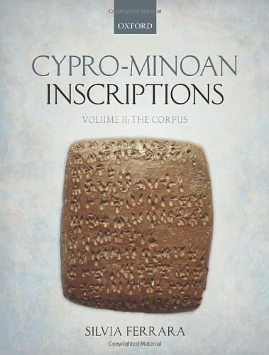 9780199693825: Cypro-Minoan Inscriptions: Volume 2: The Corpus