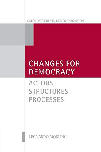 9780199698110: Changes for Democracy: Actors, Structures, Processes (Oxford Studies in Democratization)