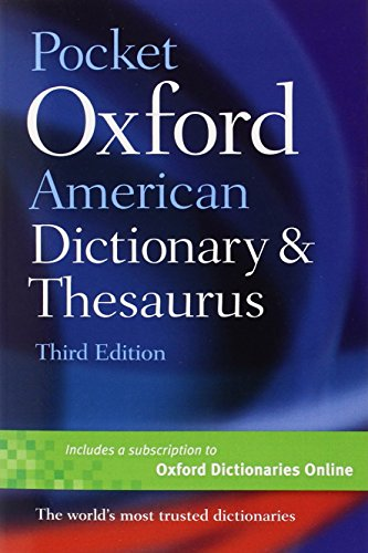 9780199729951: Pocket Oxford American Dictionary & Thesaurus