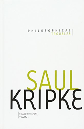 9780199730155: Philosophical Troubles: Collected Papers, Volume 1