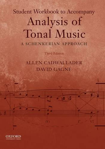9780199732487: Analysis of Tonal Music: A Schenkerian Approach (Workbook)