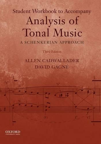 9780199732487: Analysis of Tonal Music: A Schenkerian Approach (Workbook)