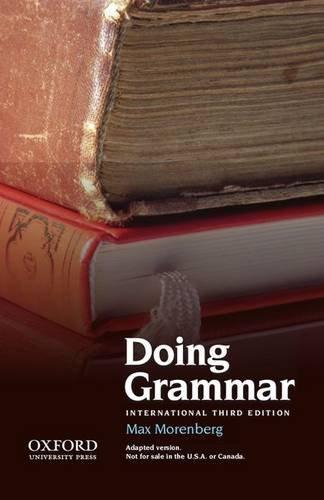 9780199732883: Doing Grammar