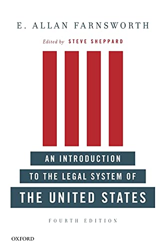 9780199733101: An Introduction to the Legal System of the United States, Fourth Edition