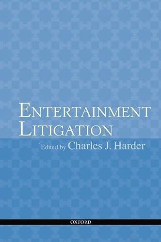 9780199733439: Entertainment Litigation