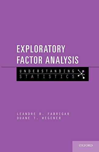 9780199734177: Exploratory Factor Analysis (Understanding Statistics)