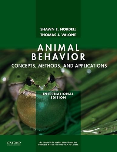 9780199737604: Animal Behavior: Concepts, Methods, and Applications