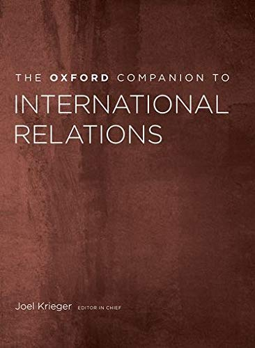 9780199738878: The Oxford Companion to International Relations