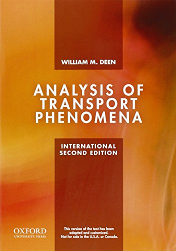 9780199740253: Analysis of Transport Phenomena (Topics in Chemical Engineering)