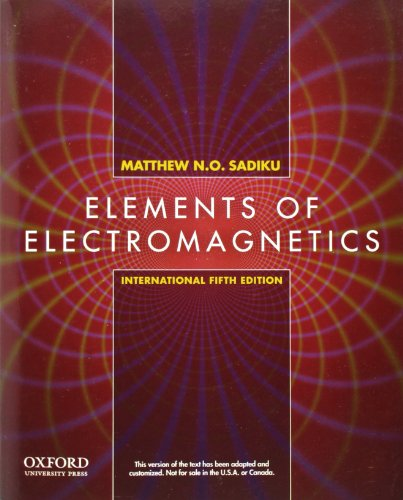 9780199743001: Elements of Electromagnetics