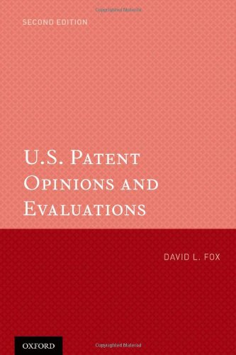 9780199751105: U.S. Patent Opinions and Evaluations
