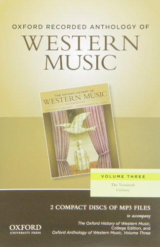 9780199768301: Oxford Recorded Anthology of Western Music: 2 CDs: 3