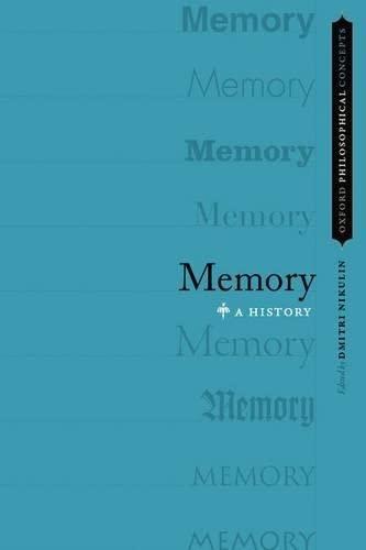 Memory. A History.: NIKULIN, D.,