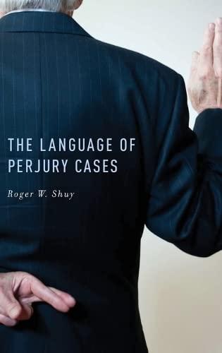 9780199795383: The Language of Perjury Cases
