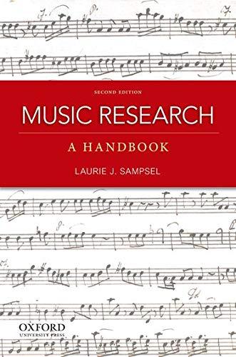9780199797127: Music Research: A Handbook