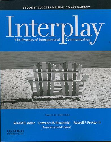 Student Success Manual to Accompany Interplay: The: Adler/Rosenfeld/Proctor, II