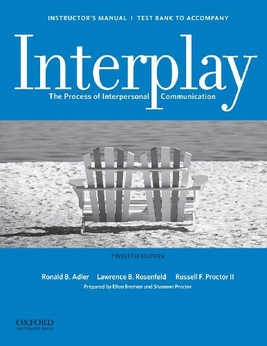 9780199827459: Instructor's Manual / Test Bank for Interplay