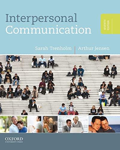 9780199827503: Interpersonal Communication