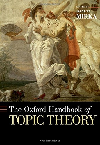 9780199841578: The Oxford Handbook of Topic Theory (Oxford Handbooks in Music)