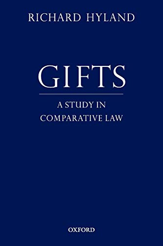 9780199843480: Gifts: A Study in Comparative Law