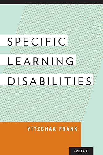 Specific Learning Disabilities: Frank MD, Yitzchak