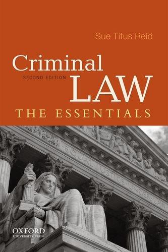 9780199890866: Criminal Law: The Essentials
