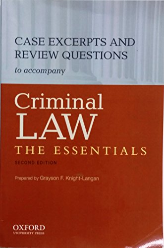 9780199890873: CRIMINAL LAW:ESSENTIALS CASEBO