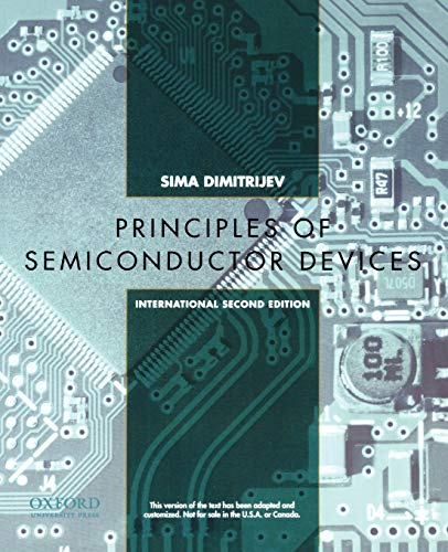 9780199896349: Principles of Semiconductor Devices: International Second Edition