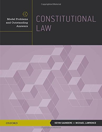 9780199916269: Constitutional Law: Model Problems and Outstanding Answers