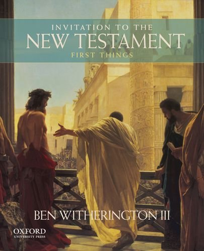 9780199920525: Invitation to the New Testament: First Things