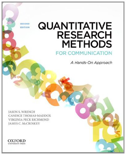 9780199931804: Quantitative Research Methods for Communication: A Hands-On Approach