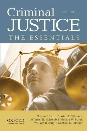 9780199935895: Criminal Justice: The Essentials