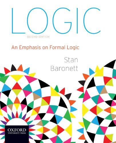 9780199941261: Logic: An Emphasis on Formal Logic