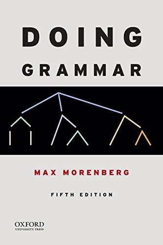Doing Grammar: Morenberg, Max
