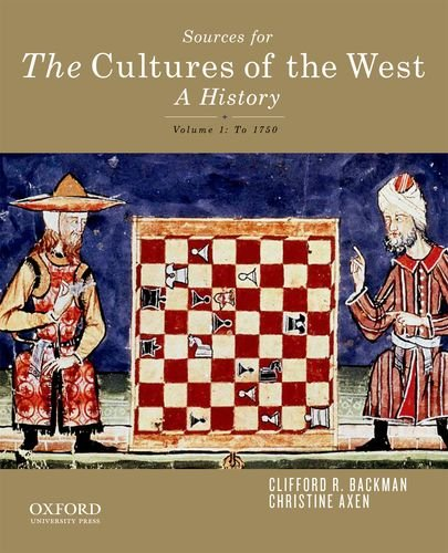 Sources for The Cultures of the West: Backman, Clifford R.