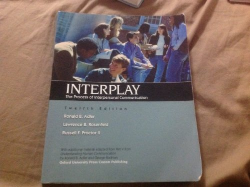 9780199964567: INTERPLAY >CUSTOM<