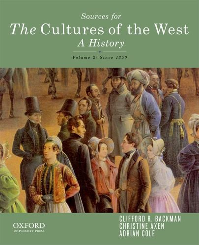 9780199969838: Sourcebook for The Cultures of the West, Volume Two