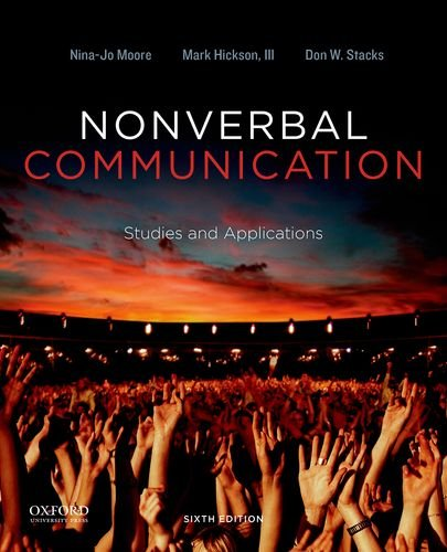 9780199990252: Nonverbal Communication: Studies and Applications