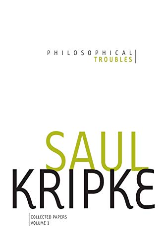 9780199992928: Philosophical Troubles: Collected Papers, Volume 1