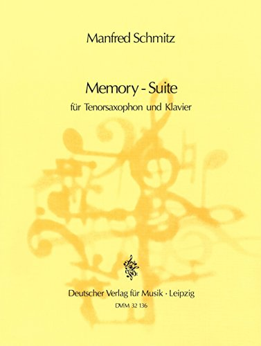 9780200426695: Memory-Suite for Tenor Saxophone and Piano by Manfred Schmitz