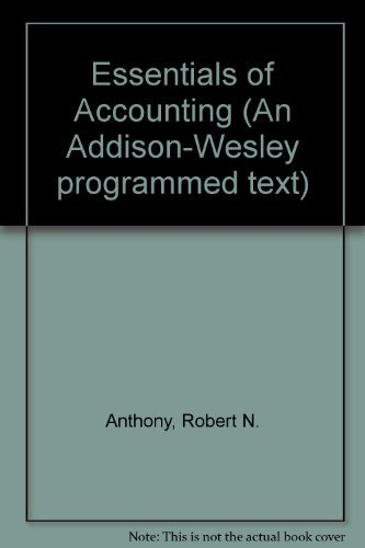 9780201000177: Essentials of Accounting