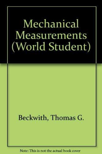 9780201000368: Mechanical Measurements (World Student)
