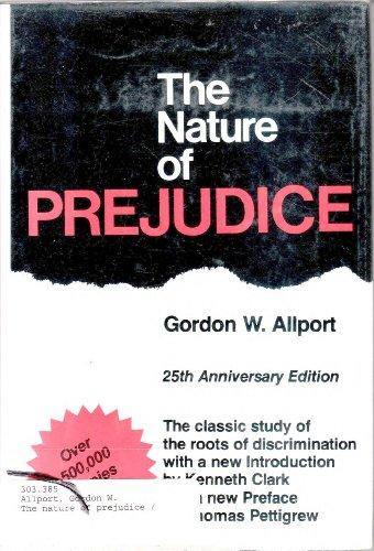 9780201001785: Title: The nature of prejudice