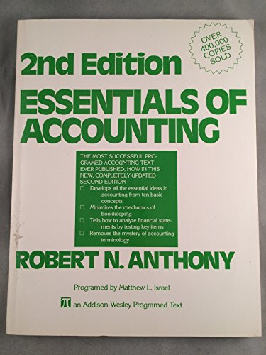 9780201002522: Essentials of Accounting (An Addison-Wesley programmed text)