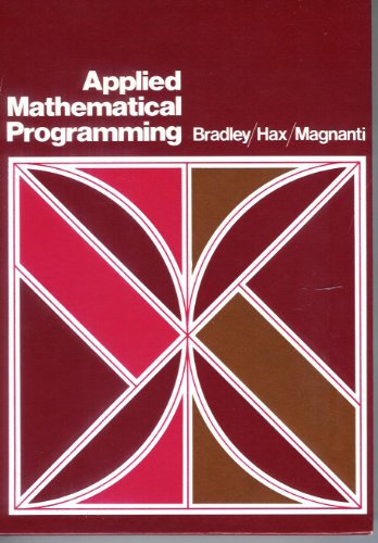 9780201004649: Applied Mathematical Programming