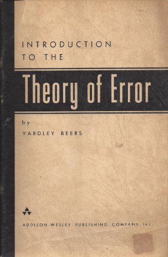 9780201004700: Introduction to the Theory of Error