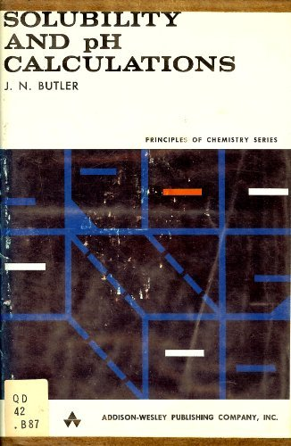 Solubility and pH Calculations: the Mathematics of: James Newton Butler